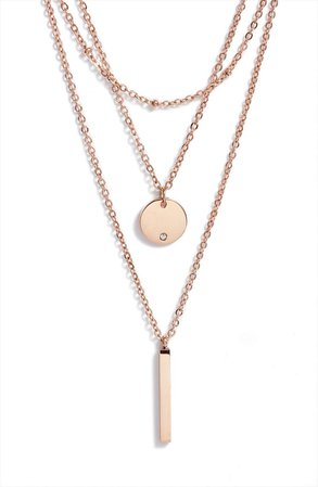 Knotty Triple Layered Pendant Necklace | Nordstrom
