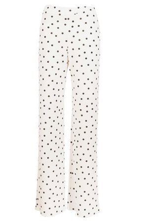 Polka Dot Crepe Wide Leg Pants | boohoo