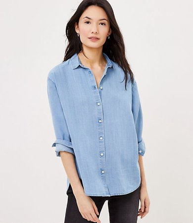 Petite Chambray Relaxed Shirt