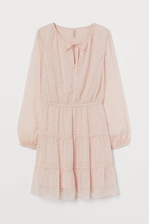 Plumeti Chiffon Dress - Pink