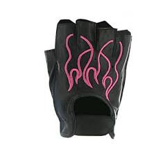 pink fingerless leather gloves - Google Search