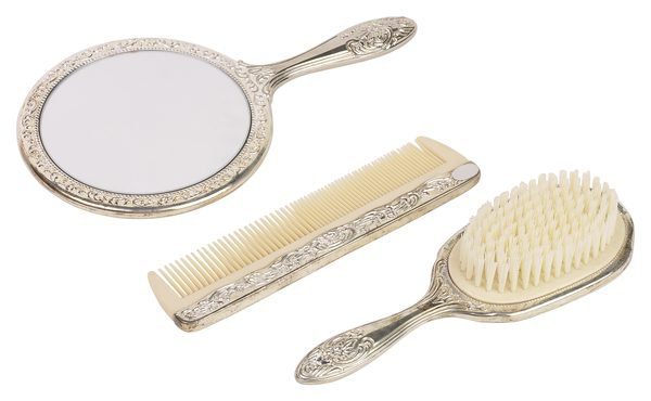 vintage brush and comb set