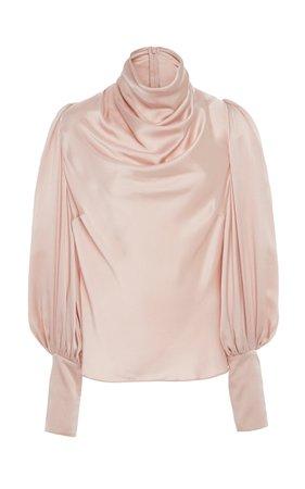 Cowl Neck Silk Blouse by Zimmermann | Moda Operandi