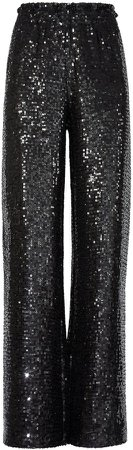 Elba Black Sequin Wide Leg Pant