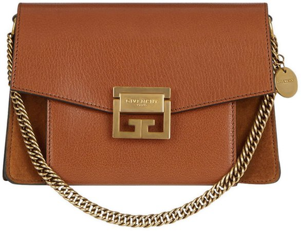 Small GV3 Leather & Suede Crossbody Bag