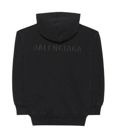 Kids' logo cotton-blend hoodie