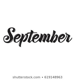 September Text Images, Stock Photos & Vectors | Shutterstock