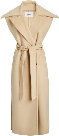 Nanushka Nura Sleeveless Wool-Silk Trench Coat
