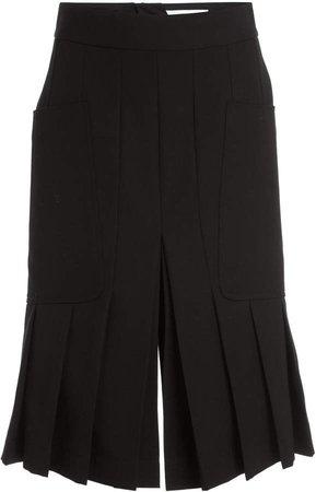 Victoria Beckham Pleated Wool Twill Culottes