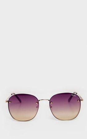 Quay X Chrissy Jezabell Rimless Sunglasses | PrettyLittleThing USA
