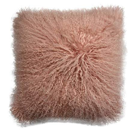 Amazon.com: Lichao Mongolian Lamb Fur Pillow Cover Luxurious Sheep Skin Cushion Cover Soft Plush Curly Pillow Case Home Decorative Throw Pillow Cover Plain Wool Pillow Protector 16 X16 Inch Bedroom (Pink): Gateway