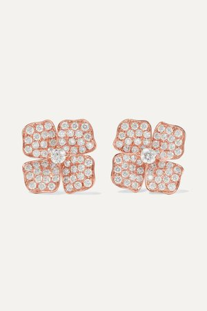 Rose gold 18-karat rose gold diamond earrings | Anita Ko | NET-A-PORTER