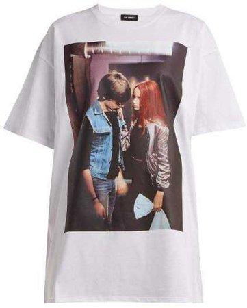 Raf Simons - Christiane F. Film Grab Print T Shirt - Womens - White Print