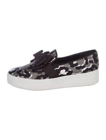 Michael Kors Metallic Slip-On Sneakers - Shoes - MIC78729   The RealReal