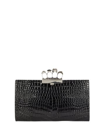 Alexander McQueen Four Ring Embossed Clutch | INTERMIX®