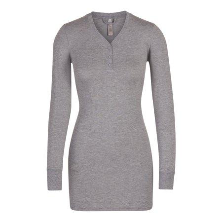 Sleep Henley Dress - Talc | SKIMS