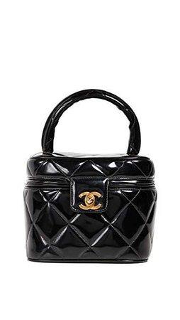 What Goes Around Comes Around Chanel Black Patent CC Vanity Case | SHOPBOP