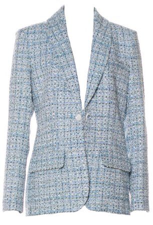 Chanel Baby Blue Tweed Blazer