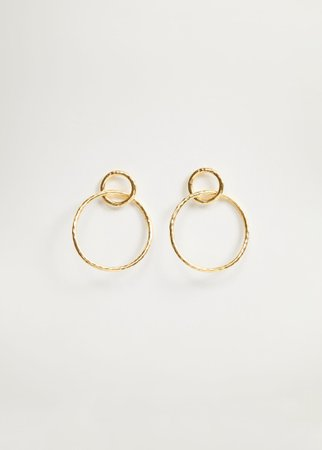 Hoop pendant earrings - Women | Mango USA