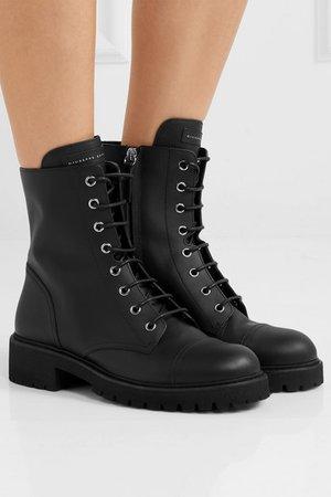 Giuseppe Zanotti | Chris leather ankle boots | NET-A-PORTER.COM