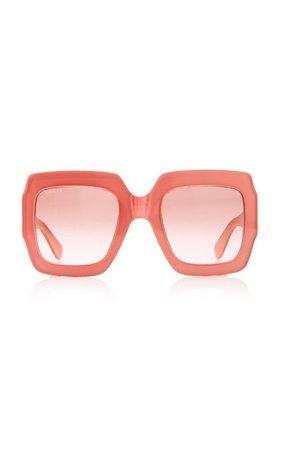 Pop Web Acetate Square-Frame Sunglasses by Gucci | Moda Operandi