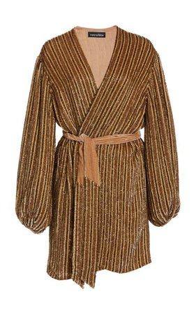 Gabrielle Sequined Wrap Dress By Retrofête | Moda Operandi