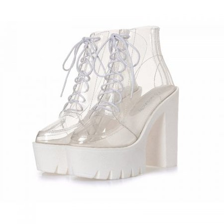 Transparent Ankle Boots - SugarSweet.me