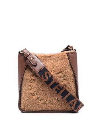 Stella McCartney logo textured crossbody bag - FARFETCH