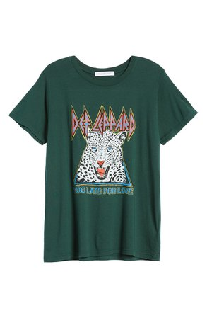 Daydreamer Def Leppard Too Late for Love Graphic Tee | Nordstrom