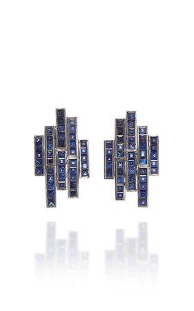 TULLIA 14K Gold Sapphire Earrings