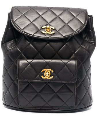Chanel Pre-Owned 1994-1996 diamond-quilted flap backpack - FARFETCH