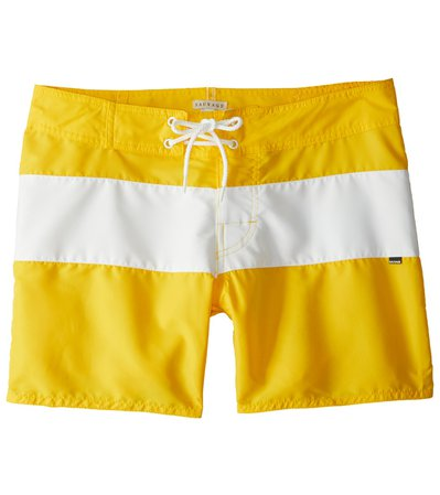 Men's Yellow Striped Swimwear