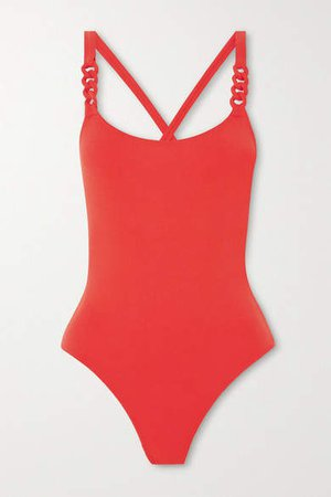 Gourmette Chainette Swimsuit - Red