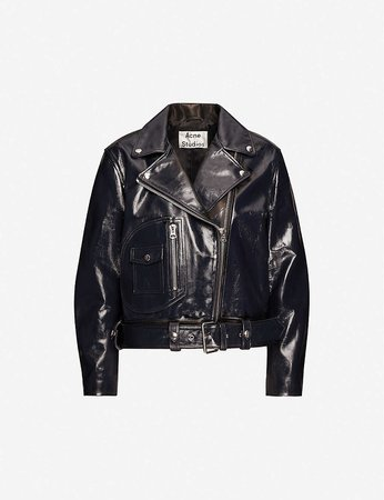 ACNE STUDIOS - Leather biker jacket | Selfridges.com