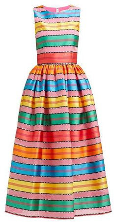 Astere Stripe Jacquard Satin Gown - Womens - Multi Stripe