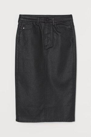 Shaping Denim Pencil Skirt - Black