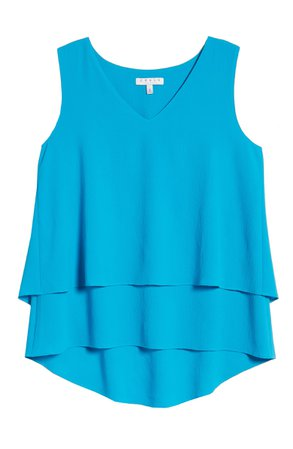 Chaus Tiered V-Neck Blouse | Nordstrom