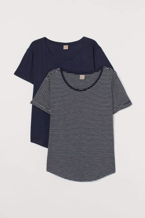 H&M+ 2-pack T-shirts - Blue