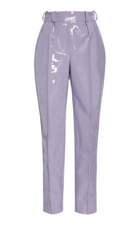 Faux Patent Leather Cropped Trouser by Christian Siriano | Moda Operandi