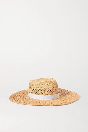 rag & bone | Grosgrain-trimmed straw hat | NET-A-PORTER.COM