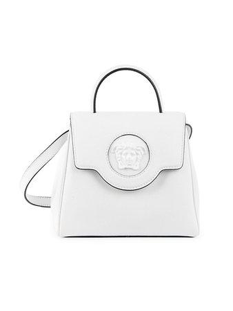Versace Mini La Medusa Leather Top Handle Bag | SaksFifthAvenue