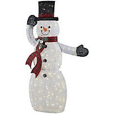 Home Accents Holiday 72-inch Warm White LED-Lit Snowman with Stars Christmas Decoration   The Home Depot Canada