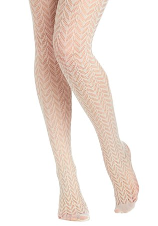 white pointelle tights