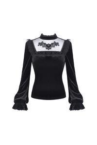 Dark In Love Tucana Velvet Top   Kate's Clothing