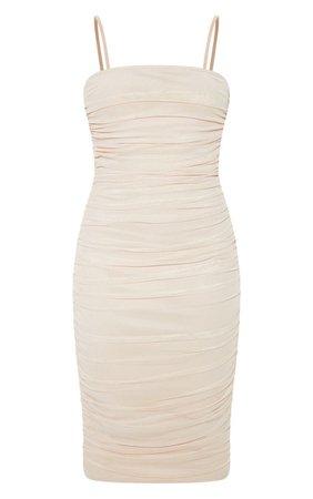 cream spaghetti strap dress