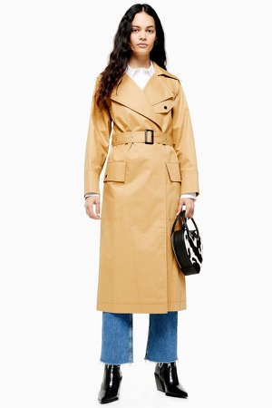 Belted Camel Trench Coat