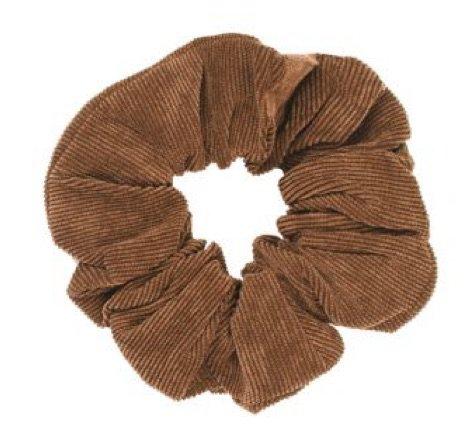 brown hair tie