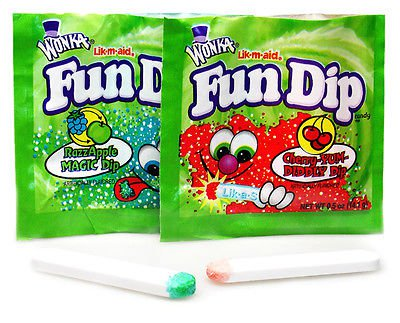 FUN DIP SUGAR CANDY 96 POUCHES 48 RAZZAPPLE + 48 CHERRY-YUM PARTY GOODY BAG | eBay