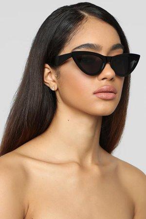 Cat To Know Me Sunglasses - Black – Fashion Nova
