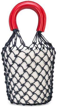 Staud fishnet-layered bucket bag